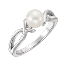 Pearl Rings White Gold Pearl Ring