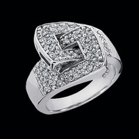 Sophisticated Diamond Buckle Ring
