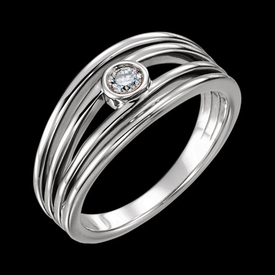 Platinum Rings Platinum Diamond Split Band Ring