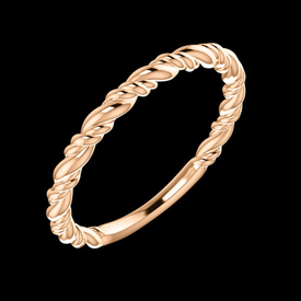 Gold Rings Stackable Rope Ring