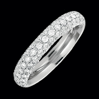 14k Gold Diamond Pave Band