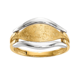 Gold Rings 14k Two Tone Gold Ring