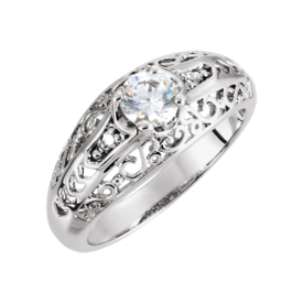 Platinum Rings Platinum Vintage Design Diamond Ring