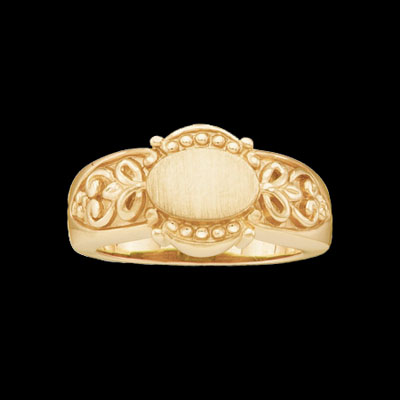 Ladies Signet Gold Ring
