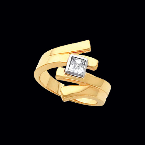 Contemporary Princess Right Hand Ring
