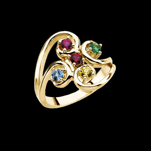 Colette Swirl Design Mothers Ring