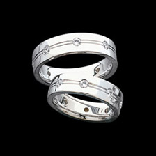 White Gold Duo Bands