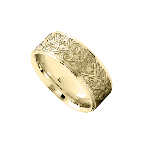 Fancy Scroll Wedding Band