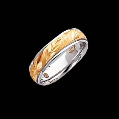 Branch Design Etched Wedding Band