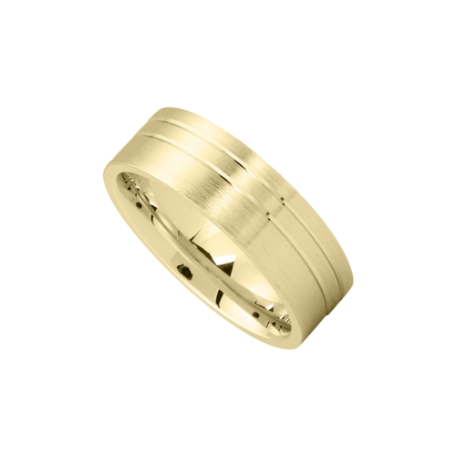Gold Brushed Dual Line Accent Band