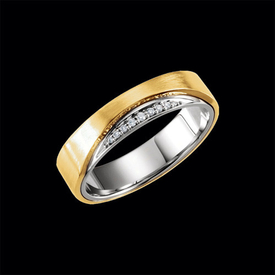 Diamond Wedding Bands Captivating Two Tone Diamond Band