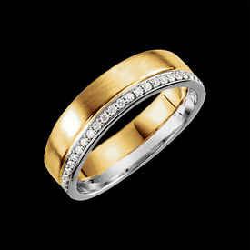 Diamond Wedding Bands Modern Two Tone Diamond Band