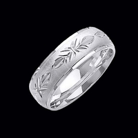 Gold Diamond Cut Design Wedding Band