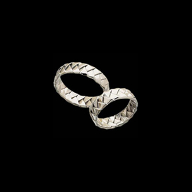Platinum Woven Wedding Band