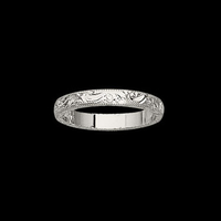 Hand Engraved Design Band
