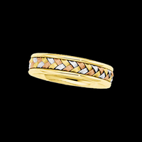Tri Color Wedding Band