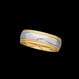 Platinum 18K Gold Wedding Band