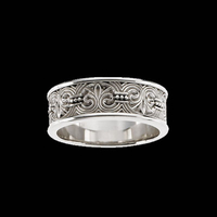 Fleur-de-lis Design Wedding Band