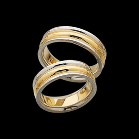 Platinum and 18K Gold Band