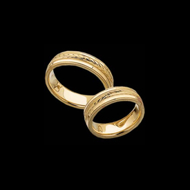 Wheat Design Wedding Ring