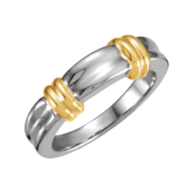 Two-Tone Wedding Bands Fancy Wedding Band