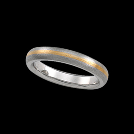 Two Tone Comfort Fit Wedding Band