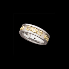 Two-Tone Wedding Bands Etruscan Style Band