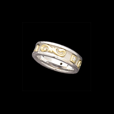 Two-Tone Wedding Bands Two Tone Etruscan Band
