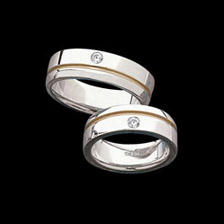 Fabulous Two Tone Diamond Band