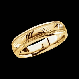 Fancy Comfort Fit Wedding Band