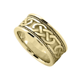 Two-Tone Wedding Bands Celtic Double Knot Wedding Band