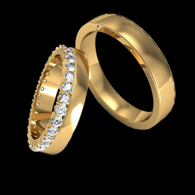 Diamond Wedding Bands Fancy Matched Wedding Bands