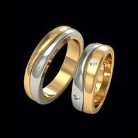 Diamond Wedding Bands Blended Diamond Wedding Band Set
