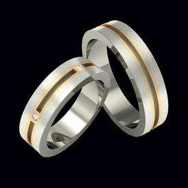 Diamond Wedding Bands Sophisticated Diamond Wedding Band Set
