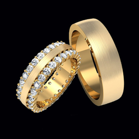 Diamond Wedding Bands Captivating Diamond Wedding Band Set