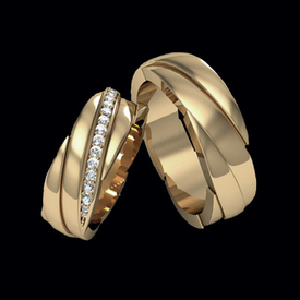 Diamond Wedding Bands Diamond Twist Duo Wedding Bands