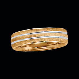 Two-Tone Wedding Bands Two Tone Two Finish Band