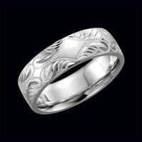 14kt Gold Hand-Engraved Wedding Band