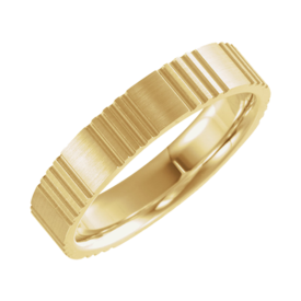 Design Wedding Bands Gold Grooved Design Wedding Band