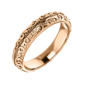 Design Wedding Bands Gold Sculptural Wedding Band