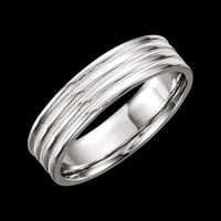 White Gold Design Band