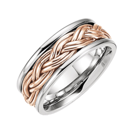 White Rose Gold Woven Band