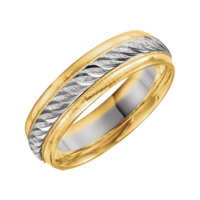 Two-Tone Wedding Bands Two Tone Design Band