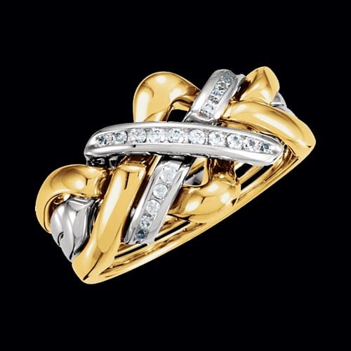 puzzle wedding rings puzzle ring 6927