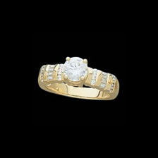 14K Gold Fancy Diamond Semi Mount