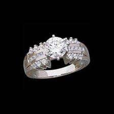 Platinum 5/8ct Semi Mount