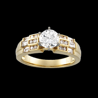 Gold Semi Mount Bridal Engagement Semi-Mount