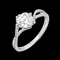 Gentle Twist Diamond Engagement Ring