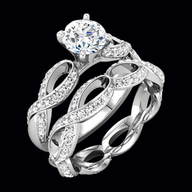 Ribbon Diamond Engagement Ring