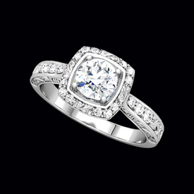 Sculptural Design Diamond Engagement Ring